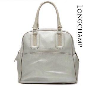 Longchamp Cosmos Metallic Leather Tote